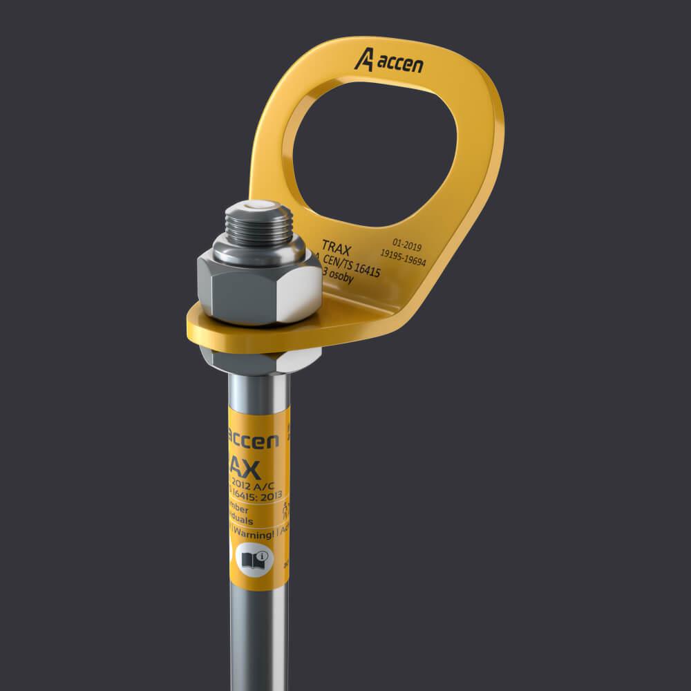 Accen- Kotevní bod pro tři osoby Trax BX D-připevnění k dřevěné konstrukci