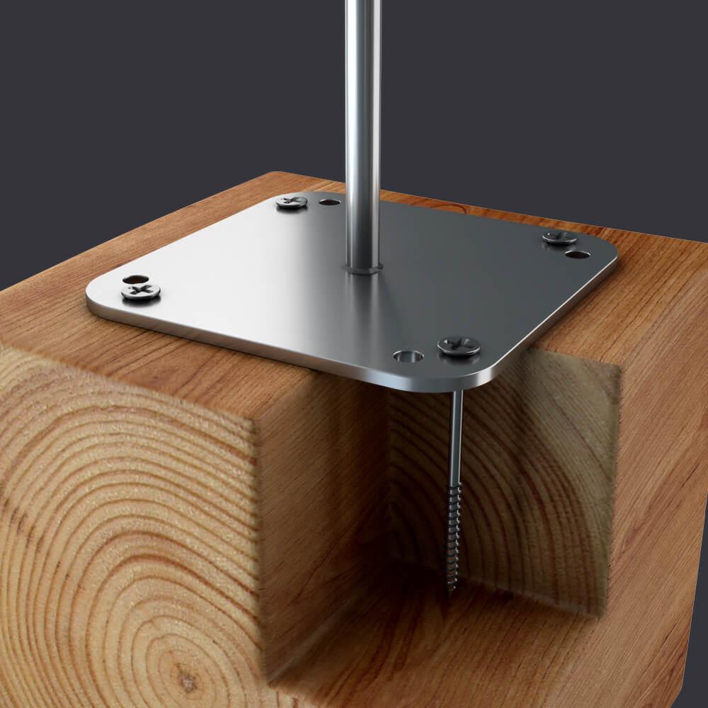 Individuální ochrana pro tři osoby- Kotevní bod Trax BX D-připevnění k dřevěné konstrukci
