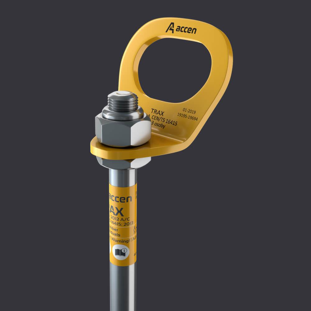 Accen- Kotevní bod pro tři osoby  Trax BX ST- připevnění k ocelovým konstrukcím