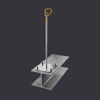 Kotevní bod Trax BX ST-ochrana pro tři osoby- připevnění k ocelovým konstrukcím