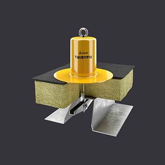 Kotevní bod Twist FIX-ochrana pro dvě osoby- plochá střecha s tepelnou izolací