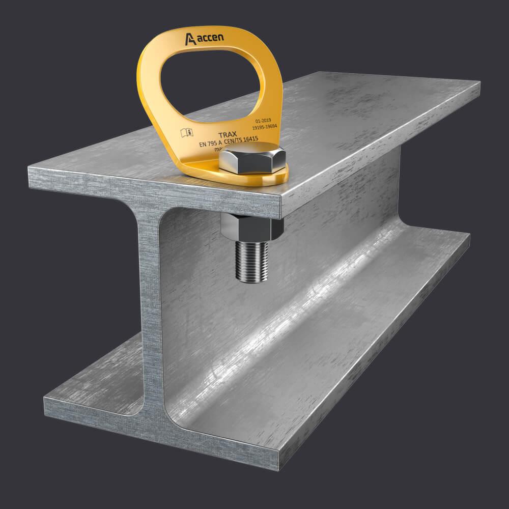 Accen Trax Light ST- Kotevní bod pro jednu osobu- připevnění k ocelovým konstrukcím