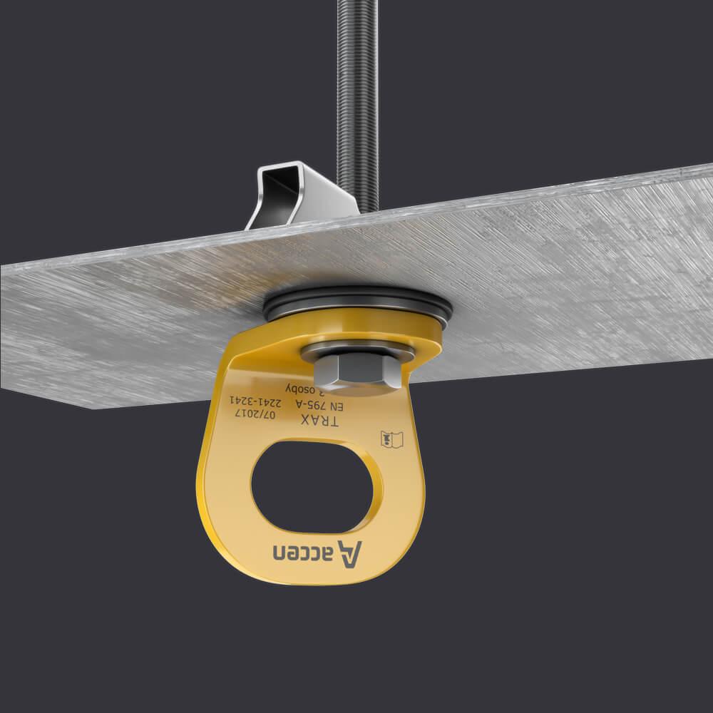 Systém individuální ochrany TRAX LIGHT TR- kotevní body na trapézovém plechu