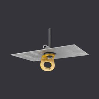 Kotevní bod TRAX LIGHT TR-jisticí systémy pro jednu osobu- montáž na trapézovém plechu