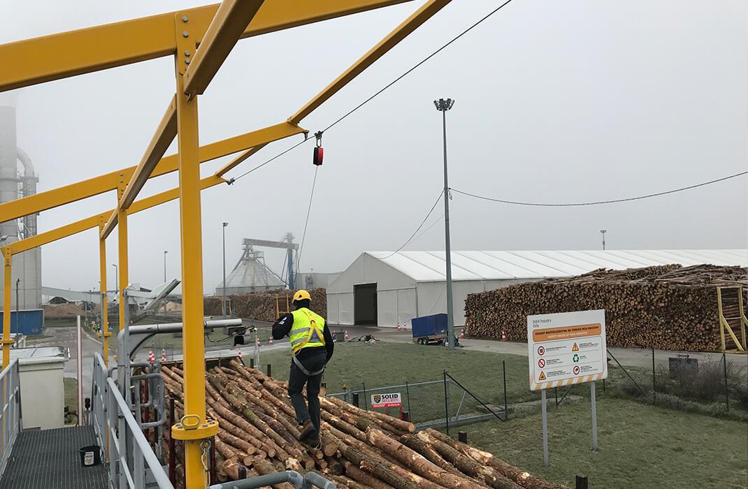 Dřevařský a papírenský průmysl - Jistící systémy - Accen- realizace -1